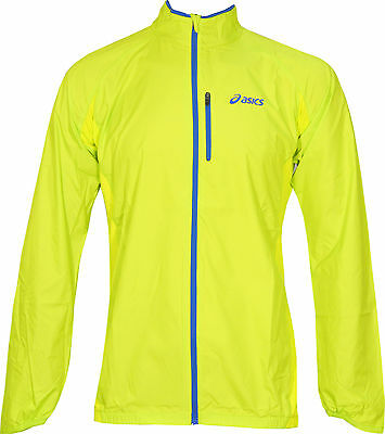 Asics Hi-Viz Mens Running Jacket - Yellow