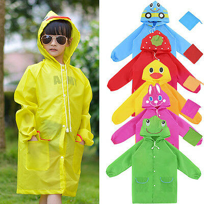 1Pc Waterproof Clothing Cute Cartoon Animal Model Children Raincoat Oxford Cloth