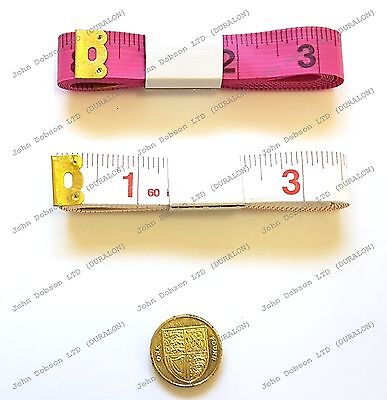 Tape Measures pink white for Tailor Sewing Cloth Body Measuring Ruler