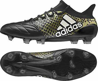 adidas X 16.1 Leather Firm Ground / AG Mens Football Boots - Black