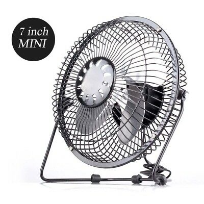 "6"" INCH SMALL DESKTOP Metal PORTABLE USB FAN TABLE DESK AIR COOLING Home Office"