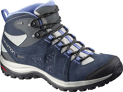 Salomon Ellipse 2 Mid Leather GTX Ladies Walking Boots - Navy