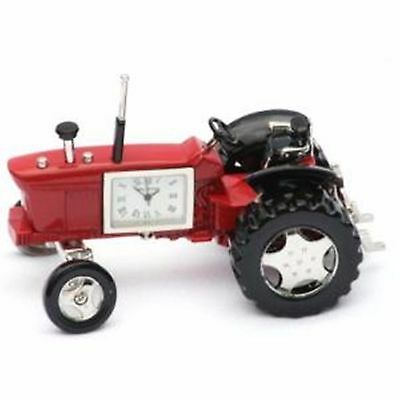 Red Vintage Tractor Clock  Small mantel Clock enthusiast farming Present Gift