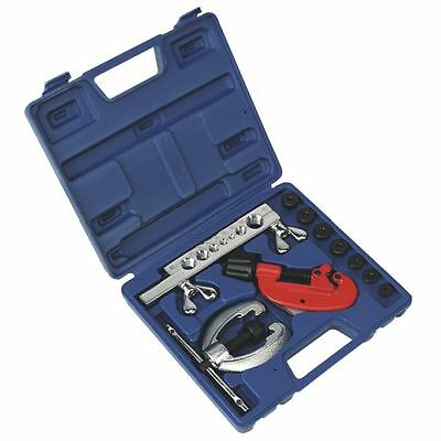Sealey Tools 10 Piece Pipe Repair Kit Pipe End Flarer Cutter Bender Cutting Set