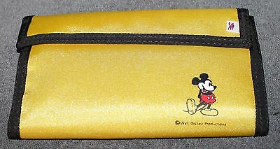 Nice Older Disney Mickey Mouse Yellow Large Wallet