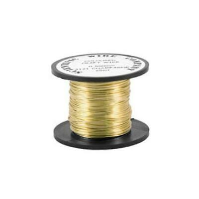 1 x Pale Gold Plated Copper 0.5mm x 15m Round Craft Wire Coil W5121
