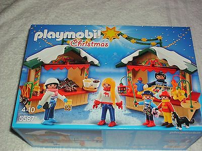 Playmobil 5587 Christmas Fair  New In Sealed Box