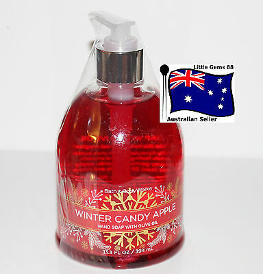 BATH & BODY WORKS * Winter Candy Apple * Large HAND SOAP 394 ML *Decorative