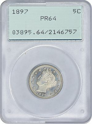 1897 Liberty Nickel PR64 PCGS Proof 64