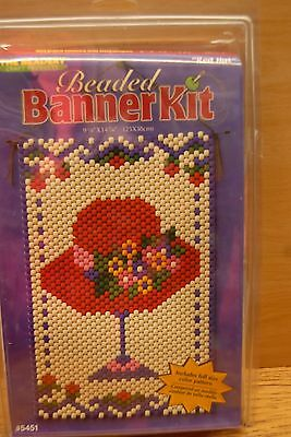 Craft Beaded Banner Kit - RED HAT - #5451 by The Beadery Craft Products NIP