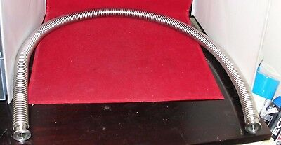 """QF16 Stainless Steel Flexible Bellows Hose 48"""""""