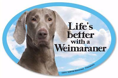 Life's Better With A Weimaraner Dog Car Fridge Plastic Magnet