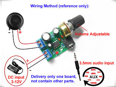 LM386 Audio Power Amplifier Board DC 3V~12V 5V Mini AMP Module Adjustable Volume