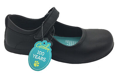 Girls Shoes Grosby Janey Black Mary Jane School Shoe Size 10-5 Leather