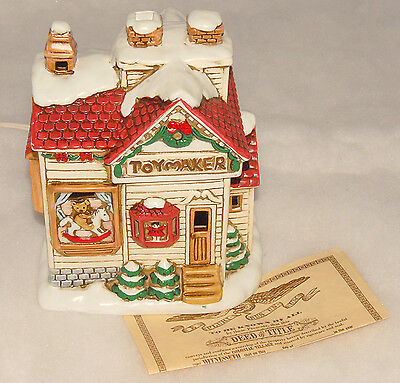 LEFTON - Toymaker Shop - 07477 - Lighted House - Christmas Colonial Village 1990