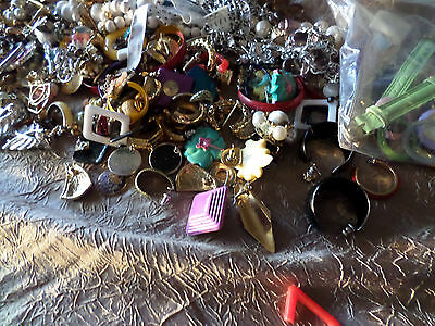 Huge Lot of Crafting Jewelry / Mismatched / Watch Bands / Vintage / Over 2 Pds