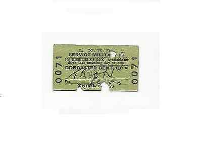 LNER ticket, Doncaster Central to Troon, 1949