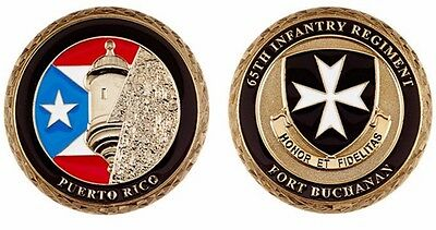 FORT BUCHANAN 65 INFANTRY BORINQUENEERS challenge ARMY coin Guaynabo Puerto Rico