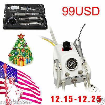 USA Dental Turbine Unit Work With Compressor + Fast/Slow Speed Handpiece Kit YA