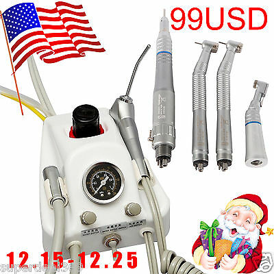 USA Dental Turbine Unit Work with Compressor + Fast/Slow Speed Handpiece Set GA
