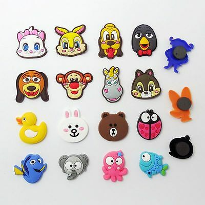 10pcs/set Random Cartoon Animal PVC Fridge Magnet Teaching Toys Magnetic Sticker