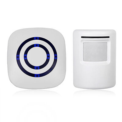 Motion Sensor Wireless Alert Home Security System Driveway Alarm Doorbell DH