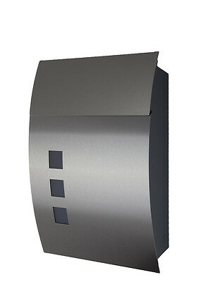 Designer Mailbox Stainless steel Mod. 444AE anthracite RAL7016 / Front in