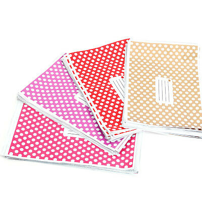 Polka Dots Pink/Gold Post Plastic Mailing Bags Strong Self Seal all Sizes