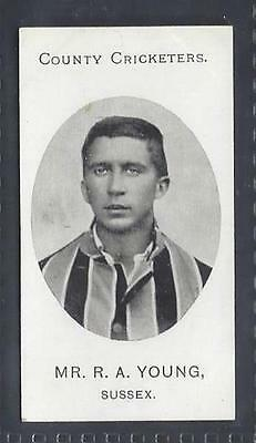 Taddy - County Cricketers - Mr R A Young, Sussex