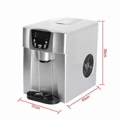 Portable Cube Ice Maker Machine Home Business Automatic Ice Water Dispenser H