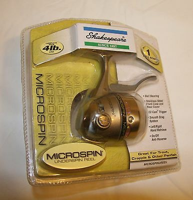 Shakespeare Microspin underspin reel 1 ball bearing 4 lb line NIB
