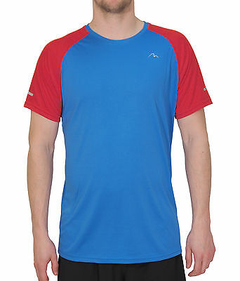 More Mile Tempest Cool Performance Mens Running Top - Blue