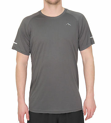 More Mile Tempest Cool Performance Mens Running Top - Grey
