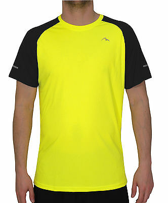 More Mile Tempest Cool Performance Junior Running Top - Yellow