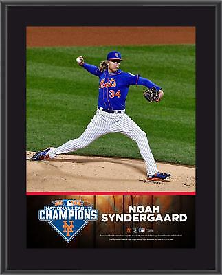Noah Syndergaard NY Mets 2015 MLB NL Champs 10.5x13 Sublimated Plaque
