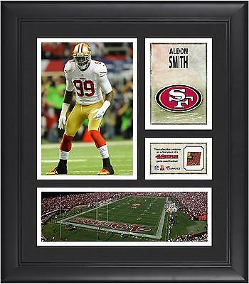 "Aldon Smith San Francisco 49ers Framed 15"" x 17"" Collage with Game-Used Football"