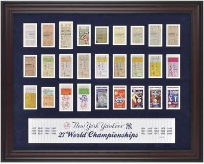 Yankees Framed 27-Time Champs Replica Ticket Collage
