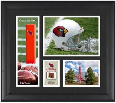 """Arizona Cardinals Team Logo Framed 15"""" x 17"""" Collage with Game-Used Football"""