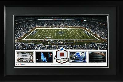 Ford Field NFL Detroit Lions Framed Panoramic Collage w/Game-Used Football - LE