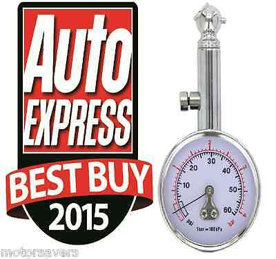Race X Tyre Pressure Gauge RX0014 - Auto Express Best Buy - Tracked Courier
