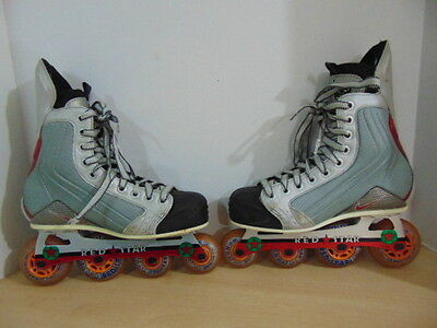 Roller Hockey Skates Childrens Size 5 D Youth Nike With Red Star Blades