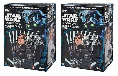 2016 Topps Star Wars Rogue One 10ct Blaster Box 2-Box Lot