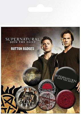Supernatural - Jensen Ackles Jared Padalecki Button Set (15x10cm) #91314