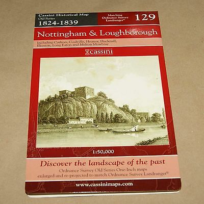 Nottingham & Loughborough 1824-1839   Map 129    Old Series Historical Map
