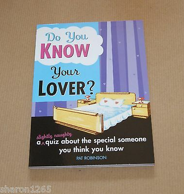 Do You Know Your Lover? (A slightly naughty quiz)