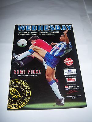 1994 COCA-COLA (LEAGUE) CUP SEMI-FINAL - SHEFFIELD WEDNESDAY v MANCHESTER UNITED