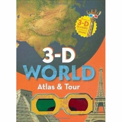 3-D World Atlas and Tour   by Marie Javins   (with 3d glasses)