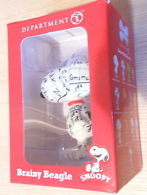 """Peanuts Snoopy Department 56 Statue figurine New Boxed 3"""" Brainy Beagle (2013)"""