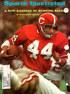 Ed Marinaro Cornell Autographed Jsa Sports Illustrated Cover