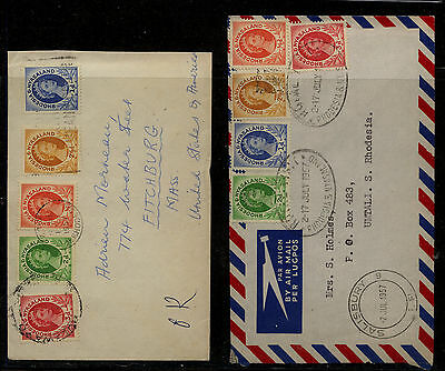 Rhodesia   2  covers  local use and to US         MS0601